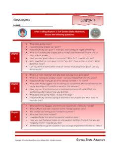Lesson 9 RL.3.1, RL.3.3, SL.3.1