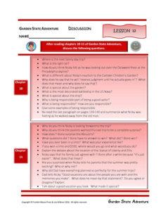 Lesson 12 RL.3.1, RL.3.3, SL.3.1