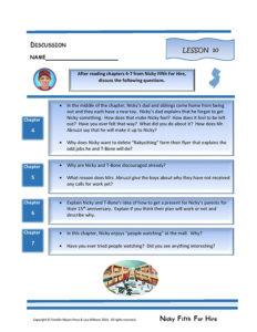 Lesson 10 RL.3.1, RL.3.3, SL.3.1