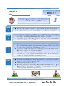 Lesson 11 RL.3.1, RL.3.3, SL.3.1