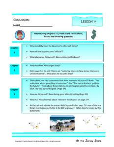 Lesson 9 RL.4.1, RL.4.3, SL.4.1