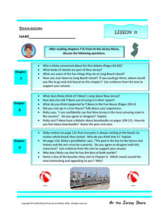 Lesson 11 RL.4.1, RL.4.3, SL.4.1
