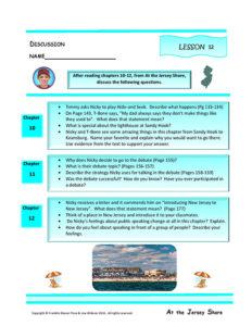 Lesson 12 RL.4.1, RL.4.3, SL.4.1
