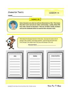 Lesson 12 RL.4.1, RL.4.3, RL.4.5, W.4.9
