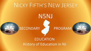 History of Education in NJ