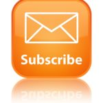 16624451 - subscribe glossy orange reflected square button